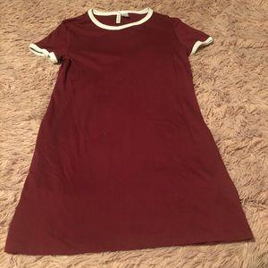 Divided t shirt dress
